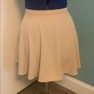 Cream forever 21 circle skirt